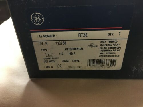 General Electric RT3E Overload Relay - NEW