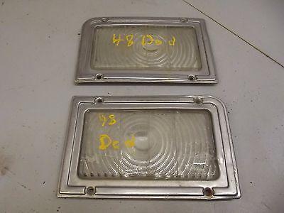 1948 DODGE GLASS PARK LIGHT LENSES & TRIM 1946 1947 1949