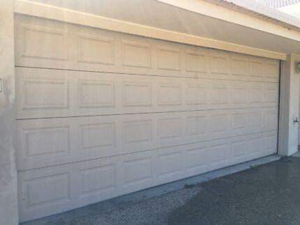 Garage doors triple