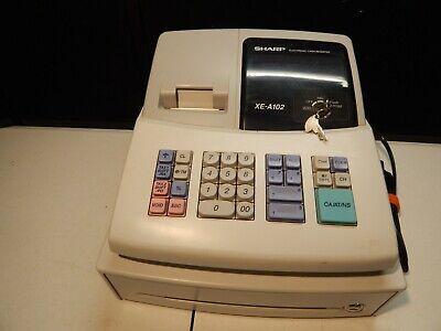 Sharp Electronic Cash Register Model Xe-a102 Cash Drawer Compact