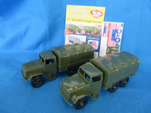 Tim Mee U.S. 2 1/2 Ton M34 Cargo Trucks X 2, for Toy Soldiers (54MM)