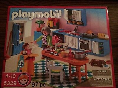 Playmobil 5329 Modern Kitchen for the Dollhouse New in Box!