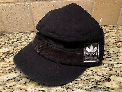 ADIDAS MEN'S BLACK MILITARY STRAPBACK HAT CAP *SHIPS IN A BOX*