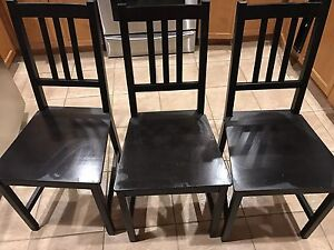 IKEA Stefan Chairs Set of Three