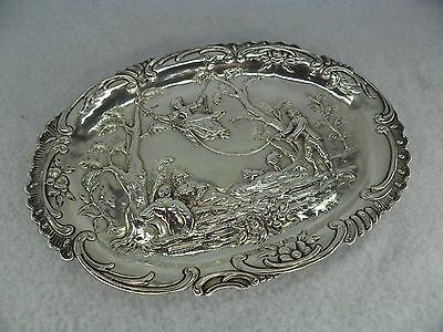 Beautiful Embossed Sterling Solid Silver Dressing Table Tray, London 1891