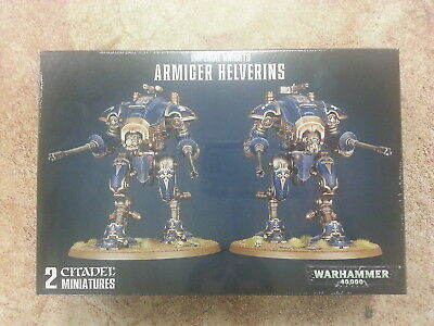 WARHAMMER 40K IMPERIAL KNIGHTS ARMIGER HELVERINS - NEW AND SEALED