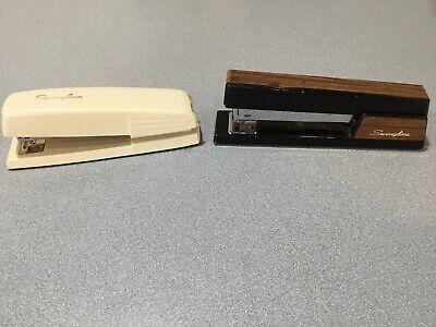 Swingline Vintage Stapler Desktop Lot 2 Working