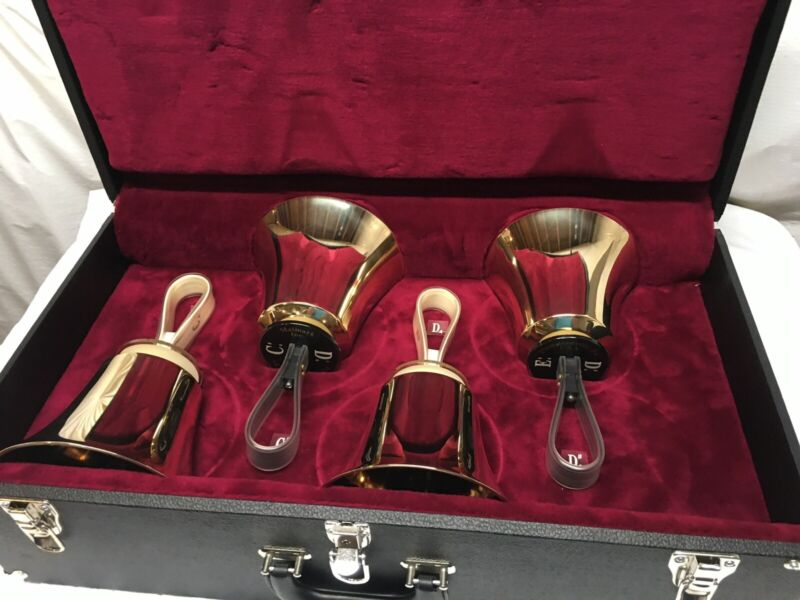 Malmark Handbells - Lowest part of 3rd octave - 4 bells and case - Free Shipping