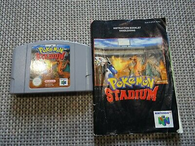 Pokemon Stadium N64 Cartridge and Booklet PAL VGC