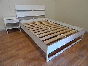 IKEA trysil double bed & side table SYDNEY DELIVERY & ASSEMBLY Windsor Hawkesbury Area Preview
