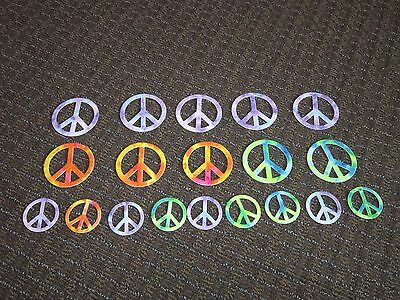 Hippie Costumes For Halloween (Peace Sign Stickers Felt Tie Dye Look GREAT for Halloween Costume Hippie)