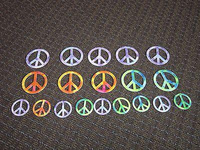Peace Sign Stickers Felt Tie Dye Look GREAT for Halloween Costume Hippie 1960's - Hippie Halloween Look