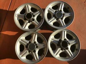 """Four 16"""" x 7"""" Jakaroo Mag wheels with 6 x 139.7. Centre bore: 100,5mm."""