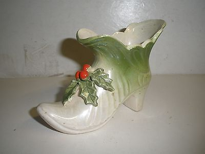 """vintage Wolin Japan green Holly shoe figure 3"""" X 4"""""""