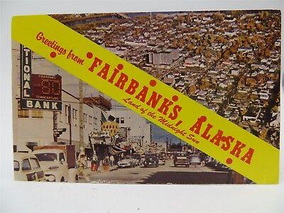 Vintage 1963 Postcard - Greetings From Fairbanks, Alaska AK