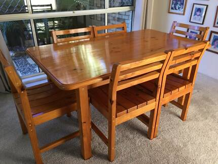 Solid Pine Dining Setting