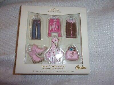 hallmark 2006 keepsake Holiday Glass Christmas Ornament barbie doll mini colle