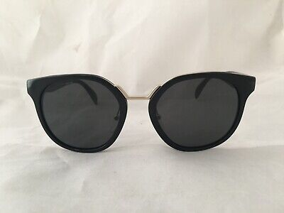 100% Authentic Prada SPR 17T 1AB-5S0 Black/Gray Sunglasses 53/20/140mm