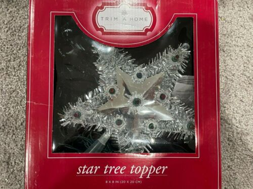 NEW Vintage Trim A Home 11-Light  Electric Star Tree Top SILVER Kmart Reflective
