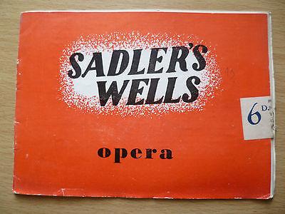 SADLER'S WELLS OPERA SEASON 1949- CARMEN (BIZET)