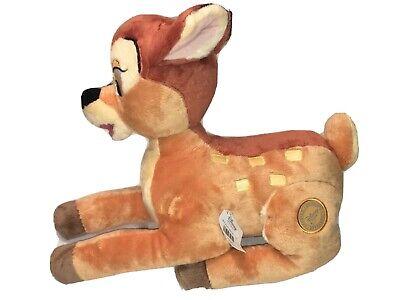 "Bambi Plush Disney Store Stuffed Animal Deer 12"" Large Cute Soft Laying Down NWT"