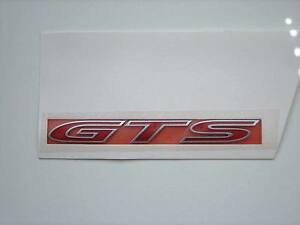 HSV VE RED ' GTS ' Rear Bootlid Badge CLUBSPORT GTS E2 E3 GENUINE HSV NEW