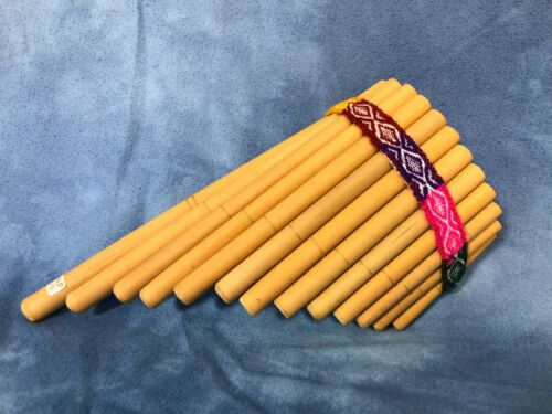 13 Pipe Vintage Pan Flute CIAP Made in Peru, Bamboo, Panflute Musical Instrument