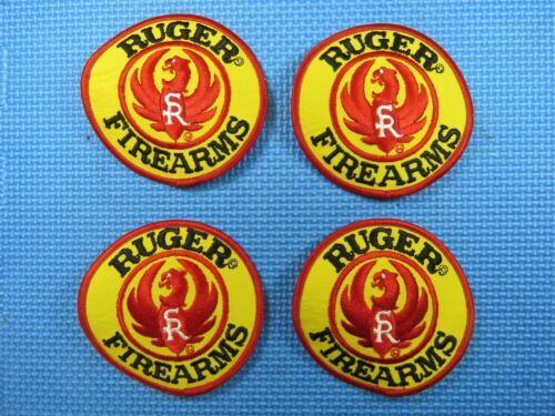 """Vintage 4"""" Ruger Firearms Embroidered Patch (four pack) Hat Jacket Shirt"""
