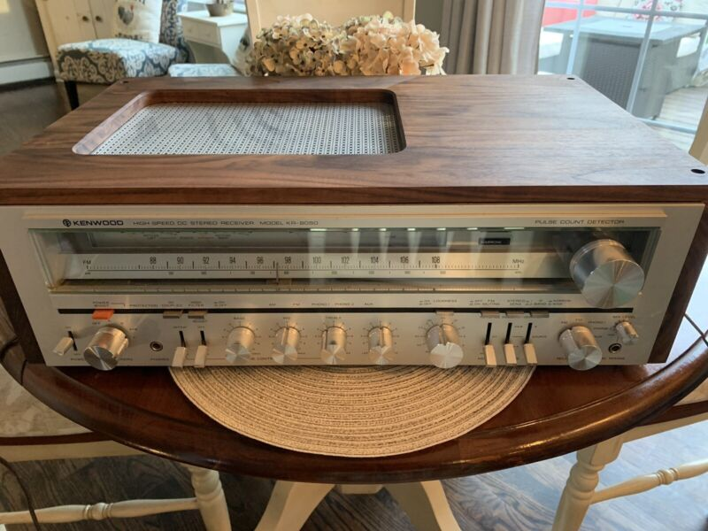 Vintage Kenwood KR-8050 Stereo Receiver With Custom Walnut Case Fully Serviced