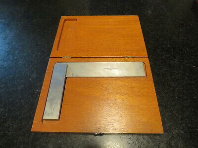 Vintage Brown And Sharp Precision Machinist Carpenter Square Wood Box 540