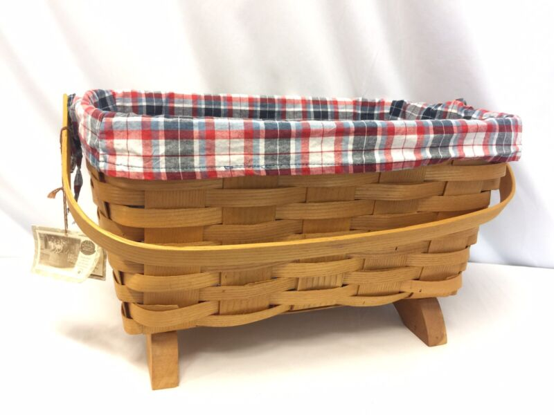 Peterboro basket co 150th anniversary basket with feet