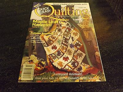 - Quick Easy Quilting Magazine Full Of Patterns/Template  Autumn Leaves Halloween+