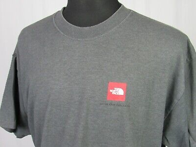 Men's The North Short Sleeved 100% Cotton Gray Graphic T-Shirt Large