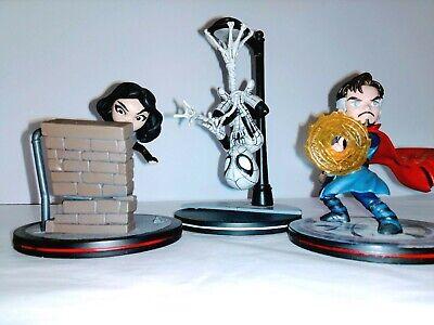 Marvel  Q-Figs Spiderman Web Slinger - Jessica Jones - Dr Strange  LootCrate