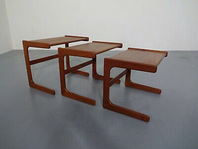 60er Jahre Salin Nyborg Teak Tische (3) Danish Modern Nesting Tables - Moderne Nesting Table