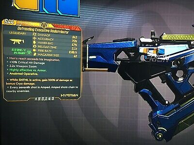 **Borderlands 3 Anointed Redistributor Corrosive 49 MAG SNTNL Lev 57 XBOX RARE** for sale  Shipping to India