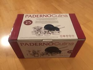 Mint in Box PADERNO Culina 12-Piece Stainless Steel Cookware set