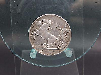 10 Lire 1927 geputzt Italien