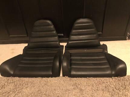 Rare Porsche 911 930 Original Rear black Seats assembly& cushions Kiama Kiama Area Preview