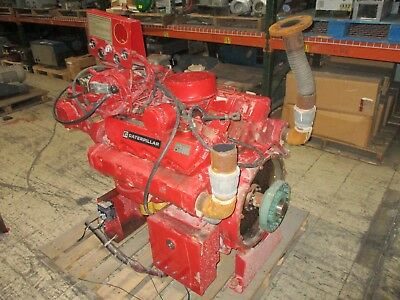 Cat Diesel Engine 3208 121hp 90kw 1800rpm Fmuli3208dina 337 Hours Used