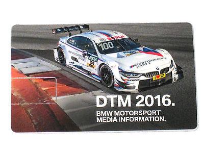 BMW 4er/M4 DTM 2016 digitale Pressemappe/Press Launch Media Info Kit *USB-Stick*