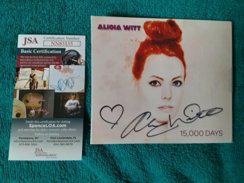 Aliola Witt  autographed cd  15,000 Days  JSA Certified