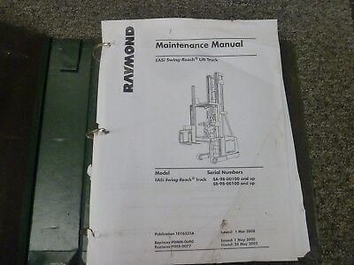 Raymond Model Easi Swing-reach Lift Truck Shop Service Repair Maintenance Manual
