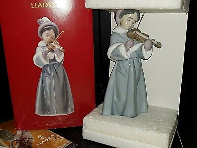 Lladro THE SPIRIT OF CHRISTMAS Girl Playing Flute Retired #6534 MINT IN BOX