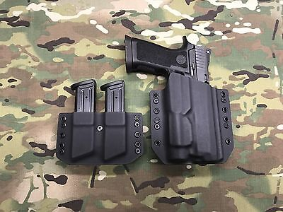 Black Kydex SIG P250 Full Size Holster Streamlight TLR-1 w/ Dual Mag Carrier for sale  Shipping to Canada