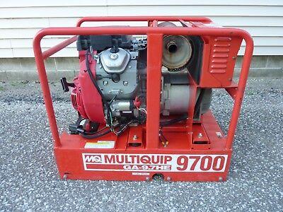 2010 Multiquip Ga97he Generator 9700 Watt Honda Gx610 Engine