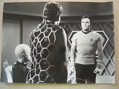 1975 Photo Star Trek Mark of Gideon Shatner - David Hurst  B/W Paramount