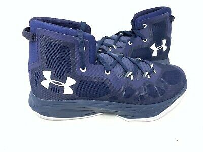 NEW! Under Armour Men's Lightning 4 Basketball Shoes Navy/White #1301667 162T tz