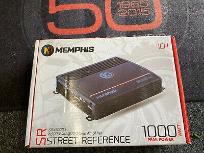 MEMPHIS SRX500D.1 AMP MONOBLOCK 500W RMS SUBWOOFERS SPEAKERS BASS AMPLIFIER