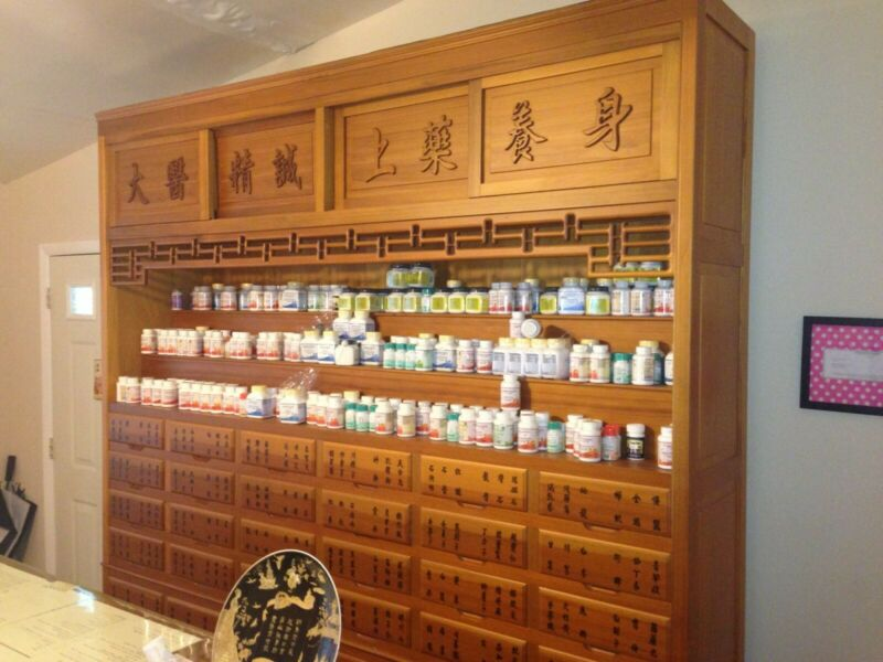 Taiwanese Chinese Apothecary medicine cabinet